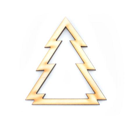 Drewniana zawieszka na choinkę - CHOINKA