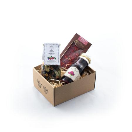 Zestaw upominkowy - Malinowe pudełko