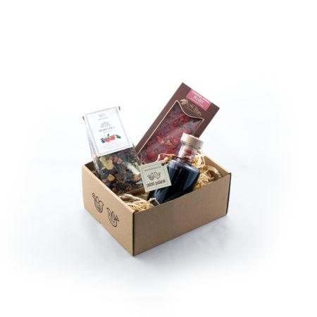 Zestaw upominkowy - Malinowe pudełko z nalewką