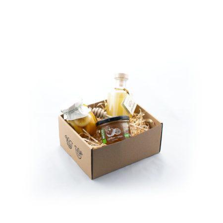 Zestaw upominkowy - Cytrynowe pudełko z nalewką